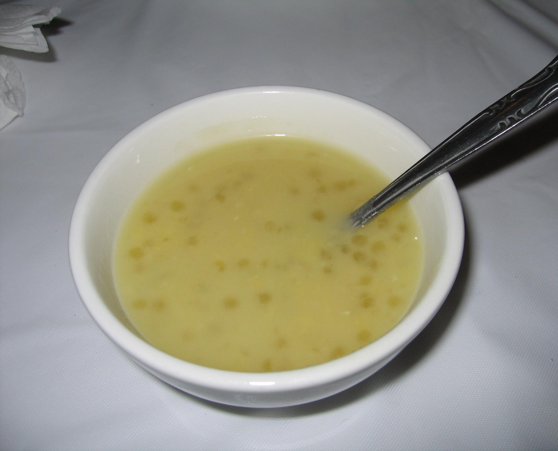 tapioca and green bean soup